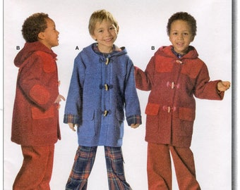 Burda 9718 Boys' Hooded Coat sizes 3-8 Easy Sewing Pattern