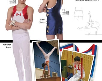 Jalie Men's & Boys' Gymnastics Shorts and Pants Sewing Pattern # 2914