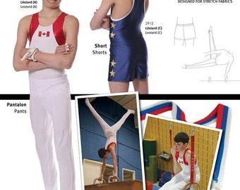 Jalie Men's & Boys' Gymnastics Shorts and Pants Sewing Pattern # 2914