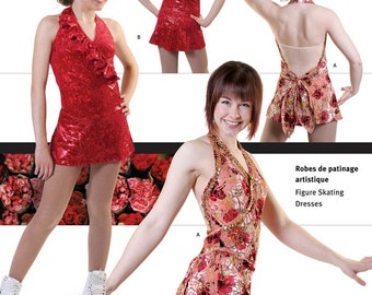 Jalie Mock Wrap Figure Skating Halter Dress w/Attached Panties Sewing Pattern # 2790 in 22 Sizes Women & Girls