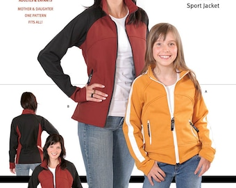 Jalie Polar Fleece Sport Jacket Sewing Pattern # 2679 in 27 Sizes for Women and Girls