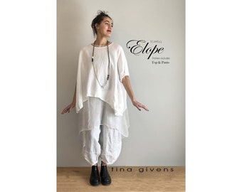 Tina Givens Elope Crop Top & Pants Sewing Pattern #9511 in sizes XS-3X