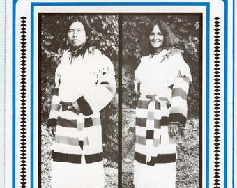 Indian, Frontier Style Blanket Capote - Frontier Coat - Men & Women - Eagle's View Sewing Pattern #90
