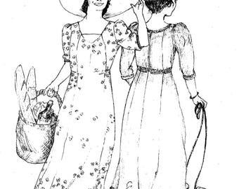 Ladies' Sense and Sensibility 1909 Edwardian Dress Gown Sewing Pattern sizes 6-18