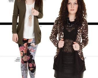 Jalie Drop Pocket Open Front Cardigan Sewing Pattern # 3248 in 27 Sizes for Women & Girls