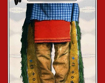 Missouri River Native American Southern Plains Flap Leggings Sewing Pattern # 023 Indian