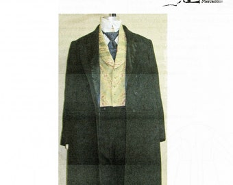 Men's Single & 'Prince Albert' Double Breasted Skirted Frock Coat sizes 34-58 Laughing Moon Bijoux Sewing Pattern # BPC-6