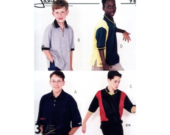Jalie 963 Men's & Boys' Pullover Jersey Shirt Sewing Pattern in 32 Sizes
