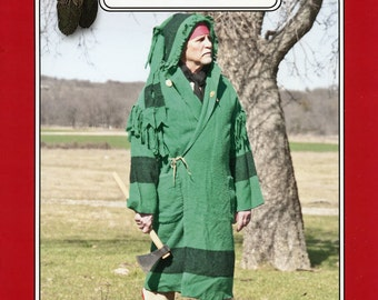 Missouri River Capote Hooded Blanket Coat Sewing Pattern - Traditional Buckskinners & Indian Style