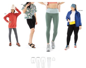 Jalie 4023 Stella Leggings, Running Belt & Beanie Sewing Pattern in 28 Sizes for Women and Girls