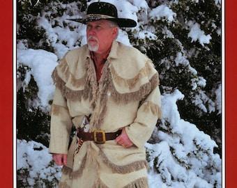 Missouri River Rifleman's Hunting Frock Shirt Fringed Coat Sewing Pattern sizes M-2XL