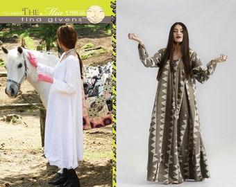 Tina Givens Mia Shaped Maxi Dress sizes XS-3X Sewing Pattern # TG-A6004