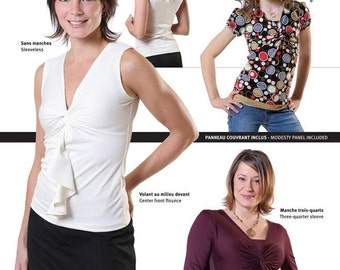 Jalie V-Neck Twist Tops Sewing Pattern # 2788 in 27 Sizes Women & Girls