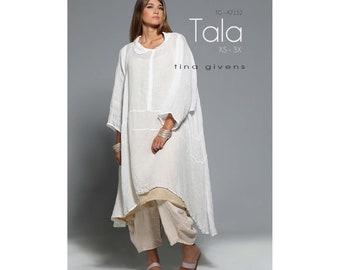 Tina Givens Tala Shaped Dress, Tunic or Pinafore sizes XS-3X Sewing Pattern # TG-A7152
