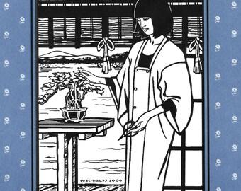 Folkwear Japanese Michiyuki 3/4 Length Kimono Style Jacket XS-2XL Sewing Pattern 143 Overcoat