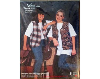 Jalie Women's & Girls' Vests with Button or Zipper Closure Sewing Pattern # 952 in 21 Sizes