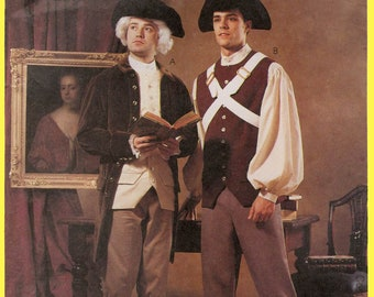 Men's Revolutionary War era Costume Sewing Pattern - Coat, Vest, Shirt, Pants, Hat & Belt - McCall's 2258