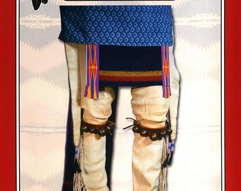 Missouri River Men's Southern Plains Tab Leggings Sewing Pattern # 022 - Native American, Indian, Pow Wow