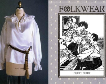 Folkwear 217 1820s-1830s Style Poet's Shirt Sewing Pattern - Men's & Women's sizes S-M-L