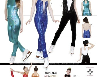 Jalie Long Sleeveless Unitard Sewing Pattern # 3239 in 22 Sizes Women & Girls Ice Skating