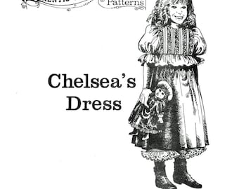 Buckaroo Bobbins Chelsea's Dress & Pantaloons size 4-12 - Girls' 1800's Victorian Style Dress Sewing Pattern
