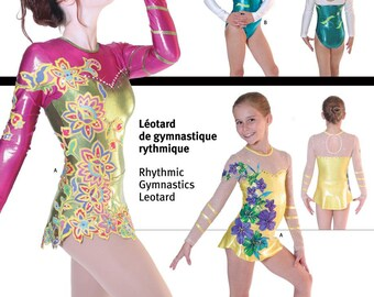 Jalie Rhythmic Gymnastics & Twirling Skirted Leotard Sewing Pattern #3026 in 22 Sizes Misses and Girls