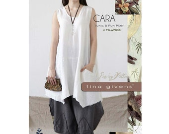 Cara Tunic & Fun Pant sizes XS-2X  Tina Givens Sewing Pattern # TG-A7038