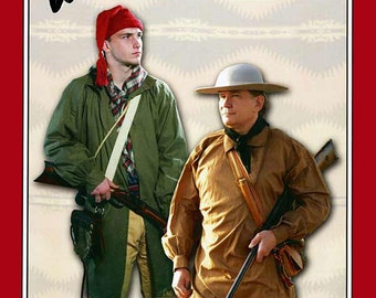 Men's 1700s-1800s Eastern Longhunter Hunting Shirt M-XXL Missouri River Sewing Pattern