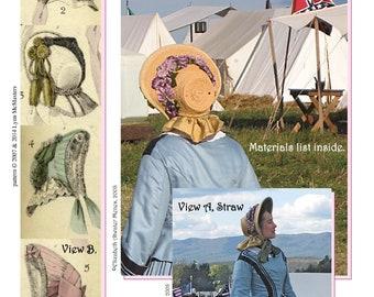 Ladies' U.S. Civil War Period Bonnet Circa 1860's Victorian - Lynn McMasters Sewing Pattern # 41