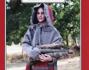 Child's / Boys' Capote Hooded Blanket Coat size 6-14 Missouri River Sewing Pattern