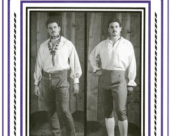 Men's Broadfall Drop Front Breeches & Pants Waist 30-42 - Eagle's View Sewing Pattern # 73
