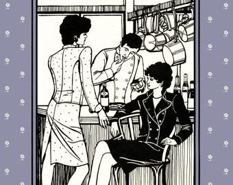Folkwear Belgian Military Chef's Jacket Sewing Pattern # 133 sizes Men's 34-44, Women's 8-18