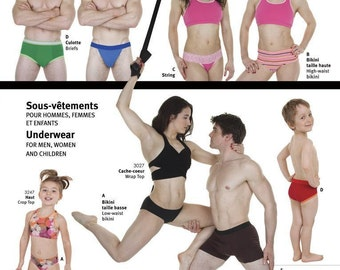 Jalie 3242 Underwear - Bikini, Briefs, Trunks, Jockstrap Sewing Pattern - Men, Women, Children