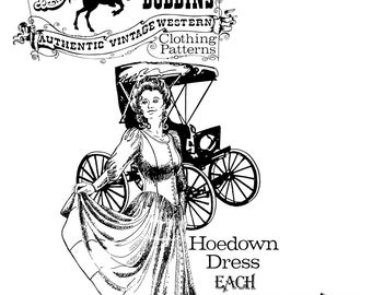 Ladies' Hoedown Dress sizes 8-20 - Classic Western Style - Buckaroo Bobbins Sewing Pattern