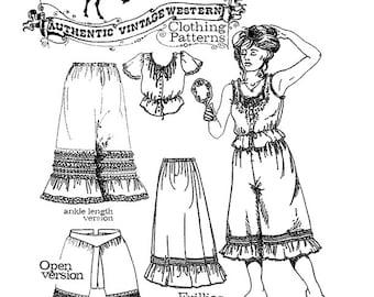 Buckaroo Bobbins Frillies - Victorian Camisole, Petticoat, Pantaloons Sewing Pattern sizes XS-XXL