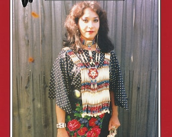 Missouri River Women's Plains Indian Cloth Dress sizes S-XL Sewing Pattern - Native American Comanche or Sioux Style