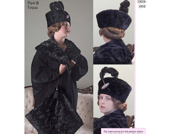 Late Edwardian-Early Teens Small Hat or Toque Sewing Pattern # 49 by Lynn McMasters