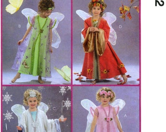 Children's & Girls' Fairy Costumes  Dress, Robes, Wings, Headband - Easy McCall's Sewing Pattern 5152