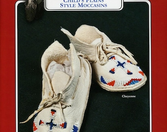 Missouri River Plains Style Indian Moccasin Sewing Pattern #206 in Infant, Toddler & Child's Sizes