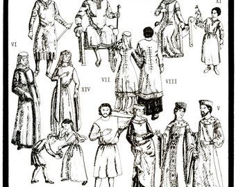 Period Patterns Tunics c. 650-1310 A.D. Men, Women, Child Sizes Sewing Pattern # 16