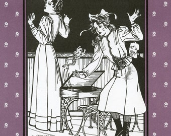 Folkwear 1907 era Schoolmistress Shirtwaist & Skirt sizes 8-14 Sewing Pattern # 216