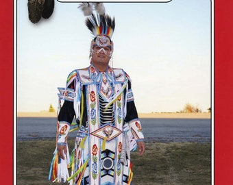 Missouri River Men's Native American Indian Grass Dance Outfit Apron, Cape, Pants Costume S-XL Sewing Pattern - Pow Wow