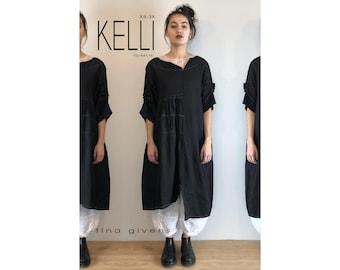 Tina Givens Sewing Pattern # 9116 Kelli Dress sizes XS-3X