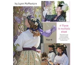 Victorian Era Brimless Hat Pattern in 4 Views - Lynn McMasters Sewing Pattern # 56
