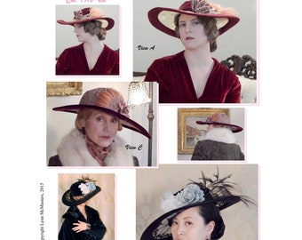 Late Teens - Early 1920s Lace Brim Picture Hat Sewing Pattern # 61 by Lynn McMasters