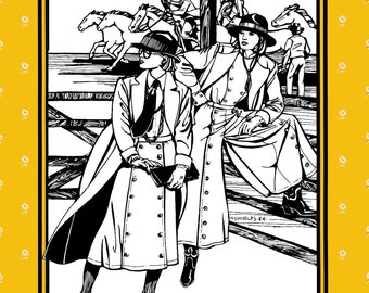 Folkwear Big Sky Riding Skirt  - Cowgirl, Western Split Skirt Sewing Pattern # 231 Sizes 8-18