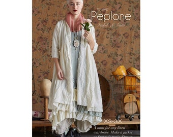 Tina Givens Peplone Jacket or Shirt / Tunic sizes XS-3X Sewing Pattern # TG-A6027