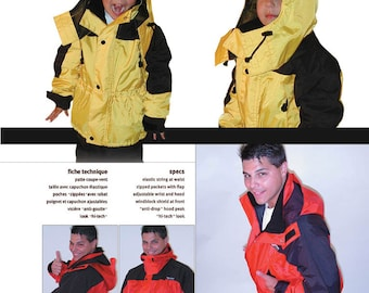 Jalie Hooded Lined Parka Sewing Pattern #2008 in 22 Sizes for Adult and Children