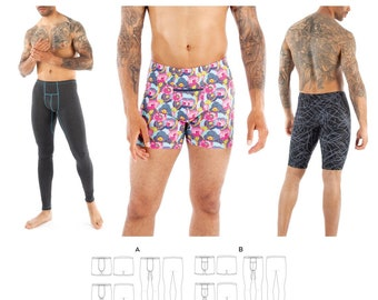 Jalie 3885 Gerald Men's & Boys' Underwear, Swim Trunks, Leggings Sewing Pattern