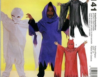 Children's/Boys' Ghost Costume sizes 3-8 McCall's Easy Sewing Pattern # 4141 - Ghoul, Demon, Halloween